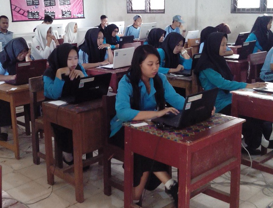 Ujicoba Unbk Sukses Dilaksanakan Smk Bina Banua Banjarmasin