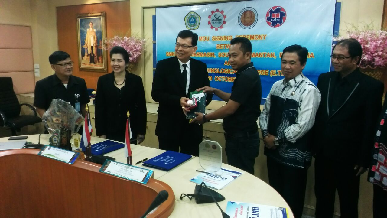 MoU SMK Bina Banua Banjarmasin Dengan SEAMOLEC