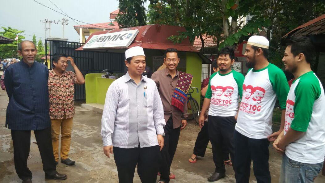 Kunjungan Walikota Banjarmasin di SMK Bina Banua Banjarmasin