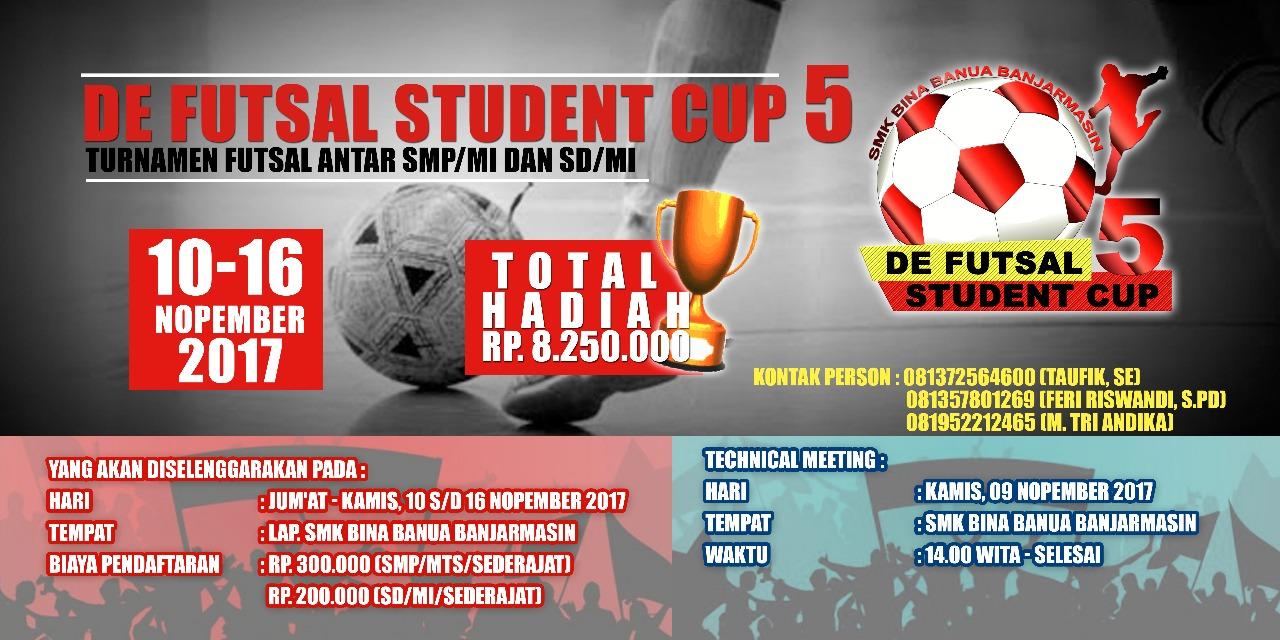 Perlombaan De Futsal Student Cup 5