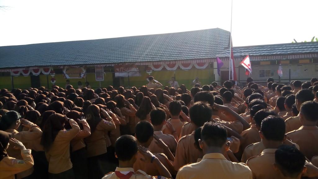 Peringatan Hari Pramuka ke 57 Di SMK Bina Banua Banjarmasin