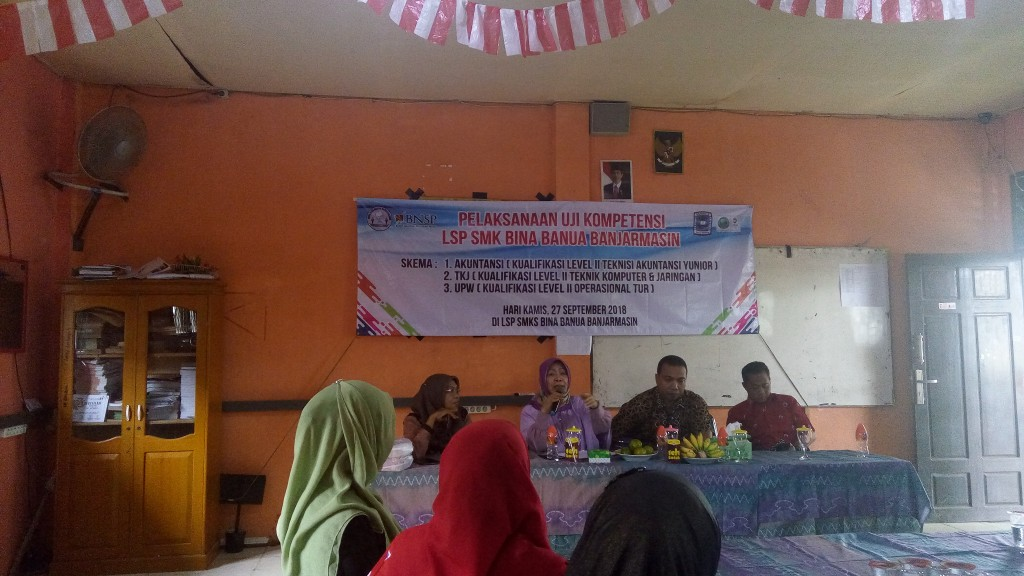 Pelaksanaan Uji Kompetensi LSP SMK Bina Banua Banjarmasin