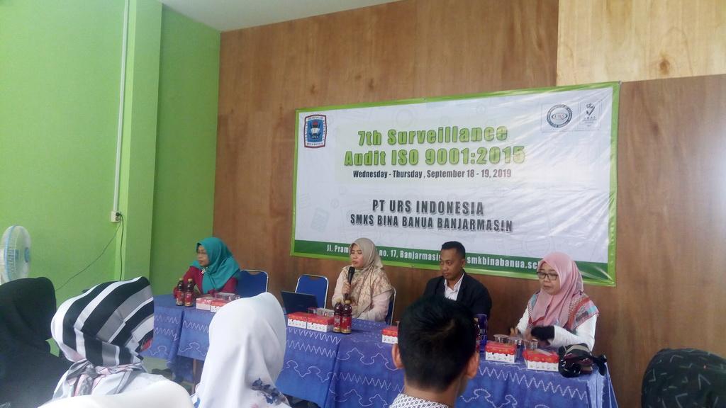 Audit Eksternal ISO 9001:2015 Di SMK Bina Banua Banjarmasin Tahun 2019