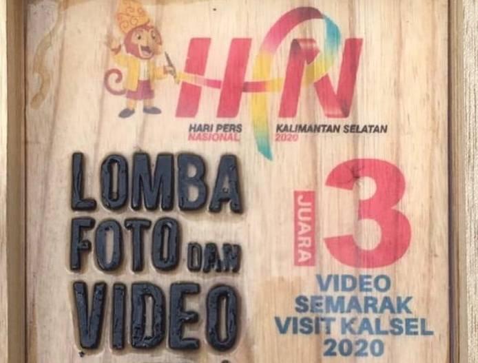 Juara 3 Video Semarak Visit Kalsel 2020 dalam Lomba Foto dan Video