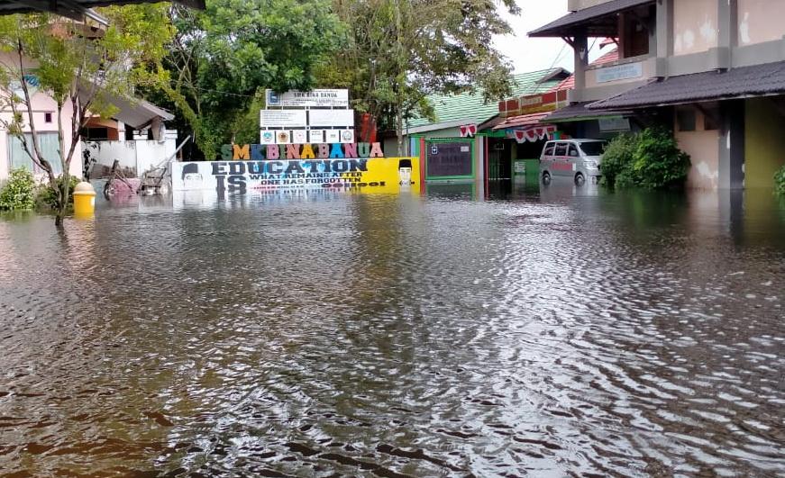 SMK Bina Banua Banjarmasin Terkena Banjir